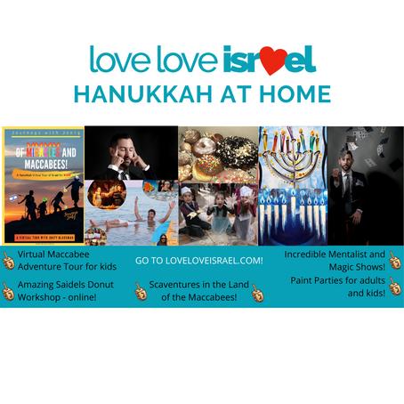 Hanukkah at Home With LoveLoveIsrael