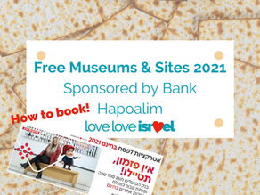 Bank Hapoalim Free Sites & Museums - Pesach 2021