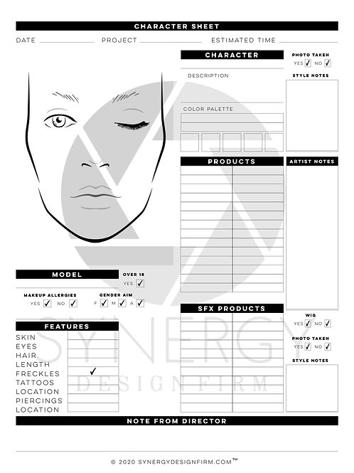 Creative Bundle Character Sheet