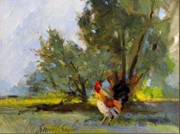 Rooster in Landscape
