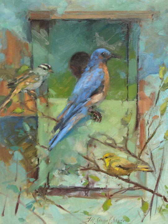 Housing Bluebird, Warbler and Sparrow