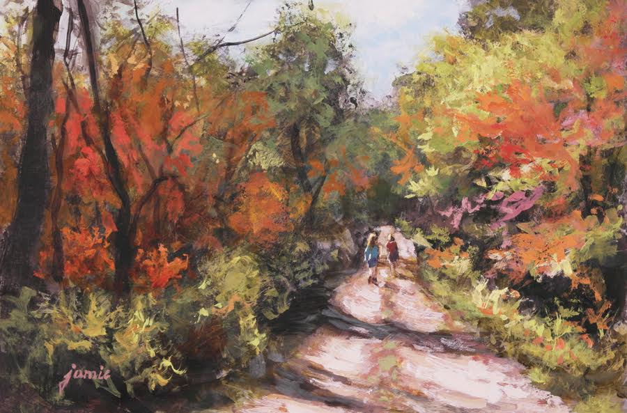 Autumn Hike - 6 x 9