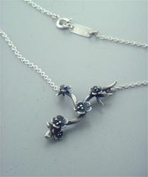 Plum Sprig Necklace