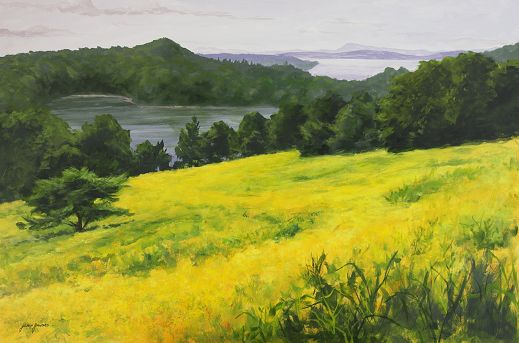 Golden Fields at Olana  24x36
