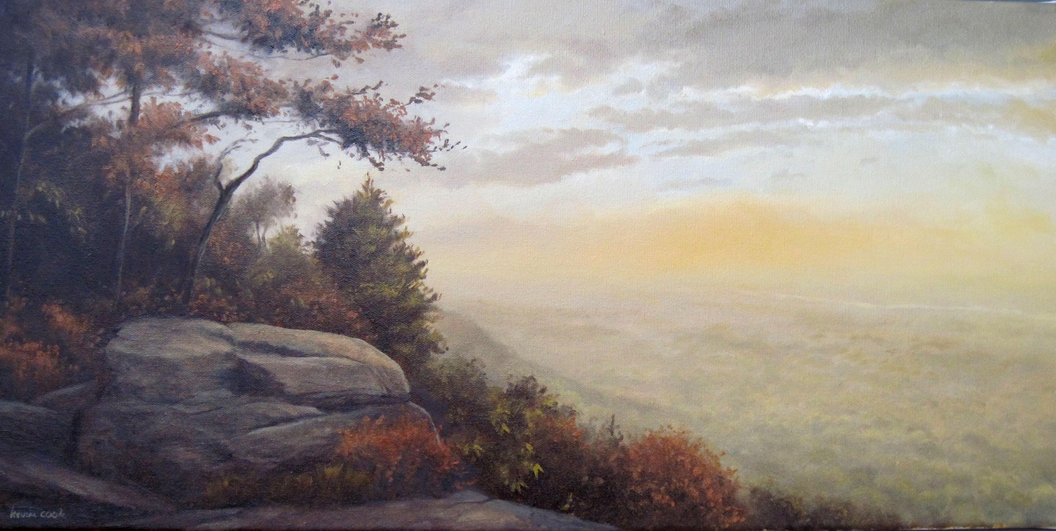 Catskill Escarpment At Dawn