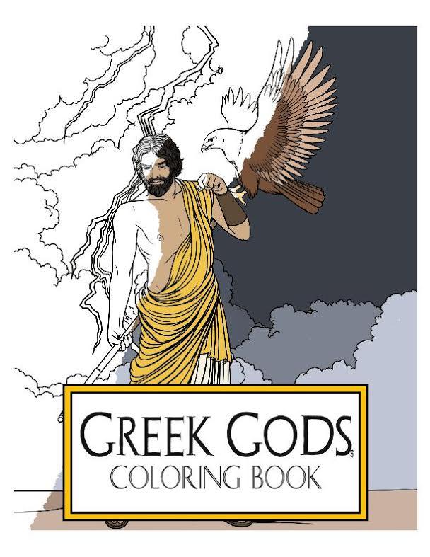 Greek Gods Coloring Book