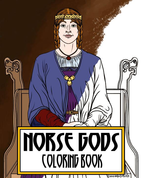 Norse Gods Coloring Book