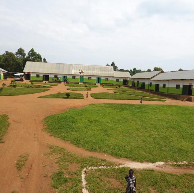 View of school buildings