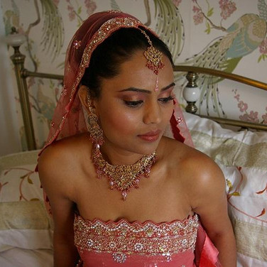Indian bride in Coral