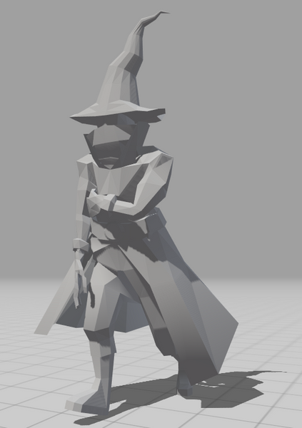 low poly wizard no texture (yet)