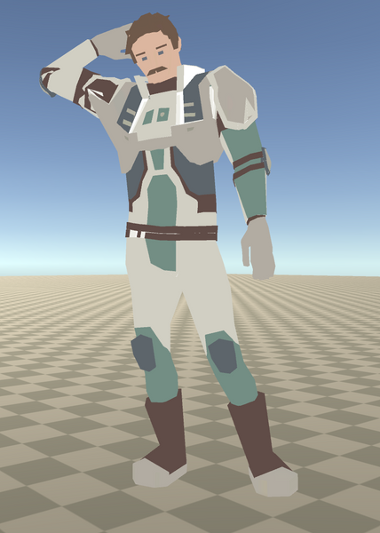 after I textured the model