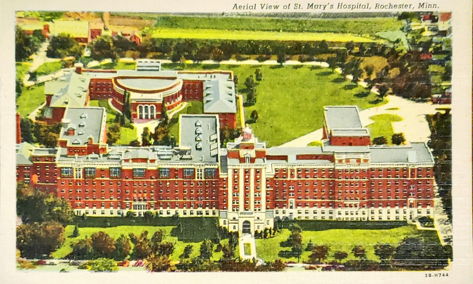 Aerial View of St. Mary_s Hospital, Roch