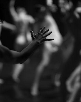 Rozmazaný obraz tanečníků