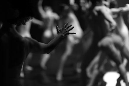 Verschwommenes Bild des Tänzers
