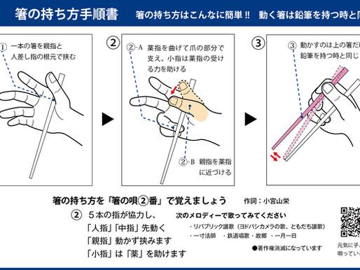 第19回 NHK生出演がキッカケで出来た「箸の持ち方手順書」