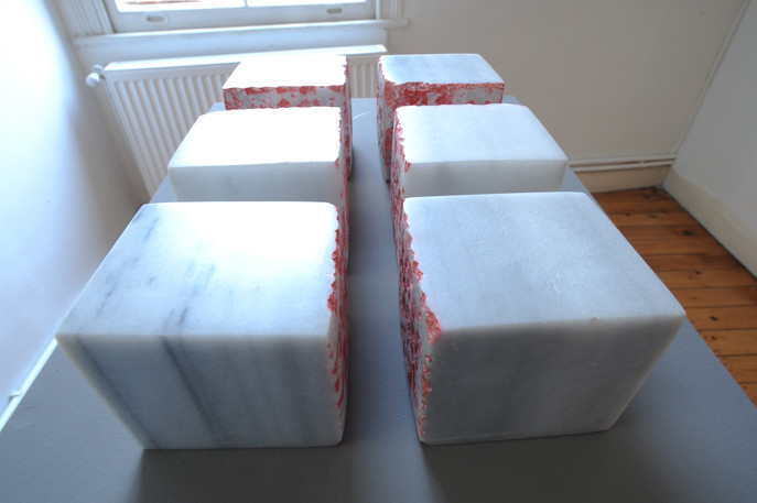 Mystery Cube, 2010, Stone, acrylic, 38 x 25 x 15 cm