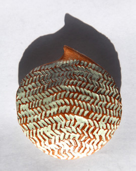 Full with words eight, 2010, Terracotta, 8 x 7 x 2 cm