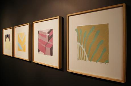 Episot series, 2013, Acrylic on canvas, each 50 x 50 cm
