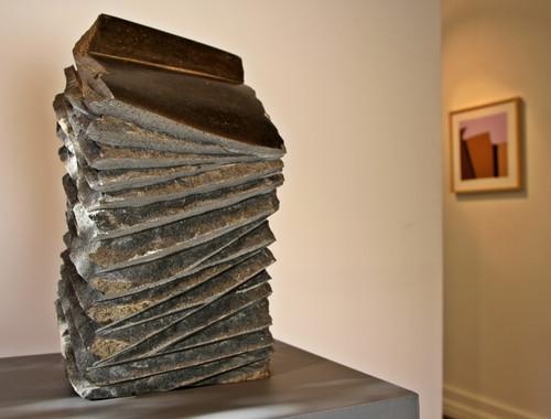 The black book, 2013, Basalt, 55 x 38 x 38 cm