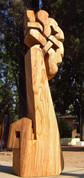 La Rosa Setul de mi Mente, 2010, Wood, 210 x 60 x 40 cm