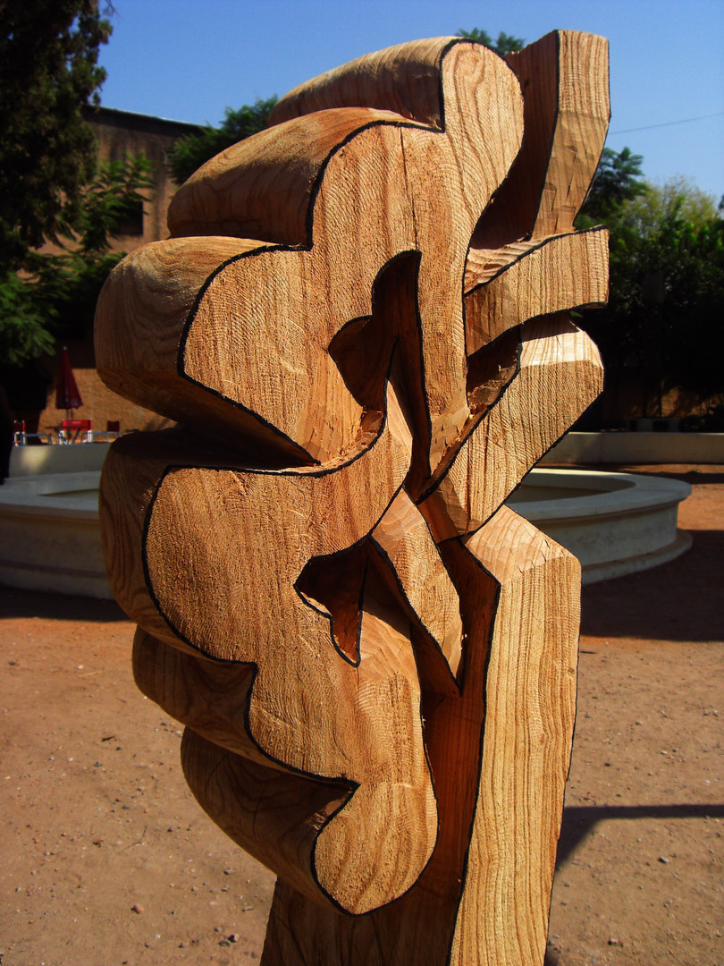 La Rosa Setul de mi Mente, 2009, Wood, 210 x 60 x 40 cm, detail