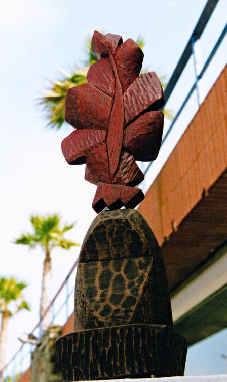 Leaf Tree I, 2004, Wood, 37 x 15 x 14 cm