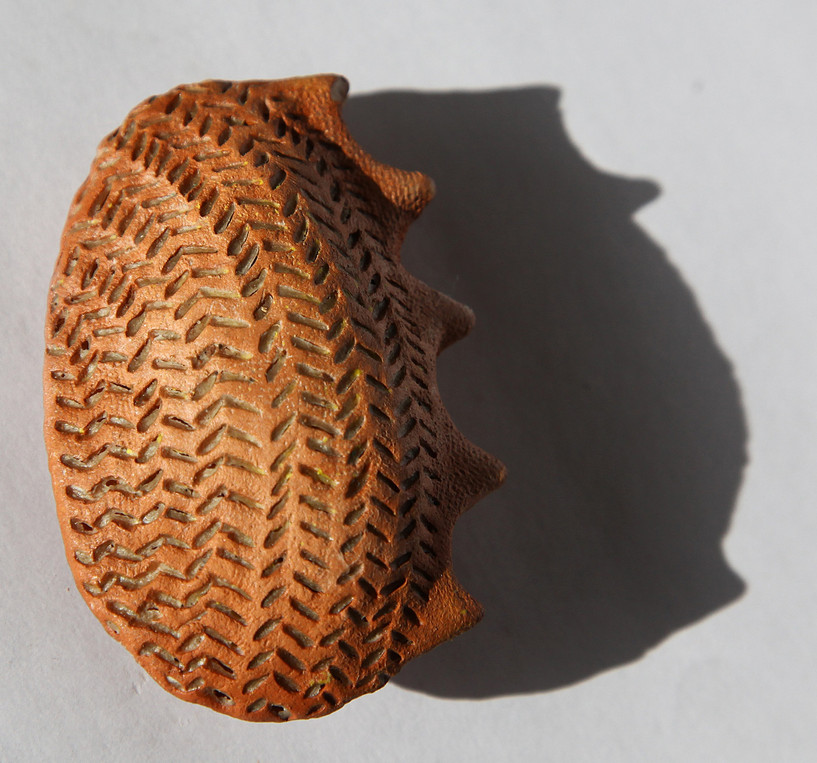 Full with words one, 2010, Terracotta, 7 x 5 x 3 cm