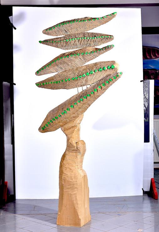 Dream of Wood, 2017, wood, 274 x 130 x 42 cm