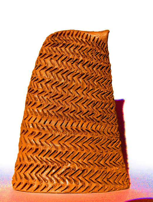 Full with words five, 2010, Terracotta, 16 x 9 x 4 cm