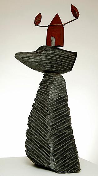 Samothrace, 2005, Basalt, bronze, 50 x 25 x 20 cm