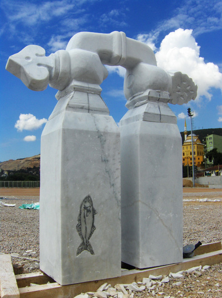 All Waters of the Earth Interwine, 2007, Stone, 220 x 195 x 70 cm