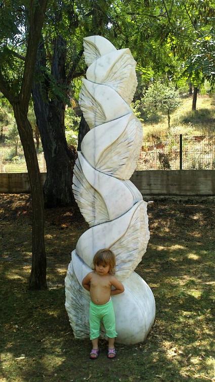 Seven Seas, 2012, Stone, 210 x 45 x 45 cm