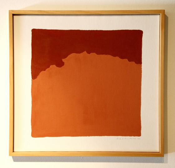 Full with words, Eight, 2010, Acrylic on canvas, 50 x 50 cm