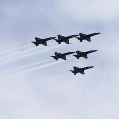 Blue Angel Flyover