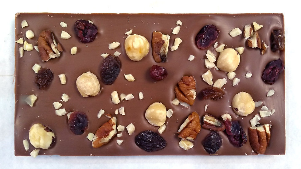 Luxury Fruit & Nut Milk Chocolate Bar