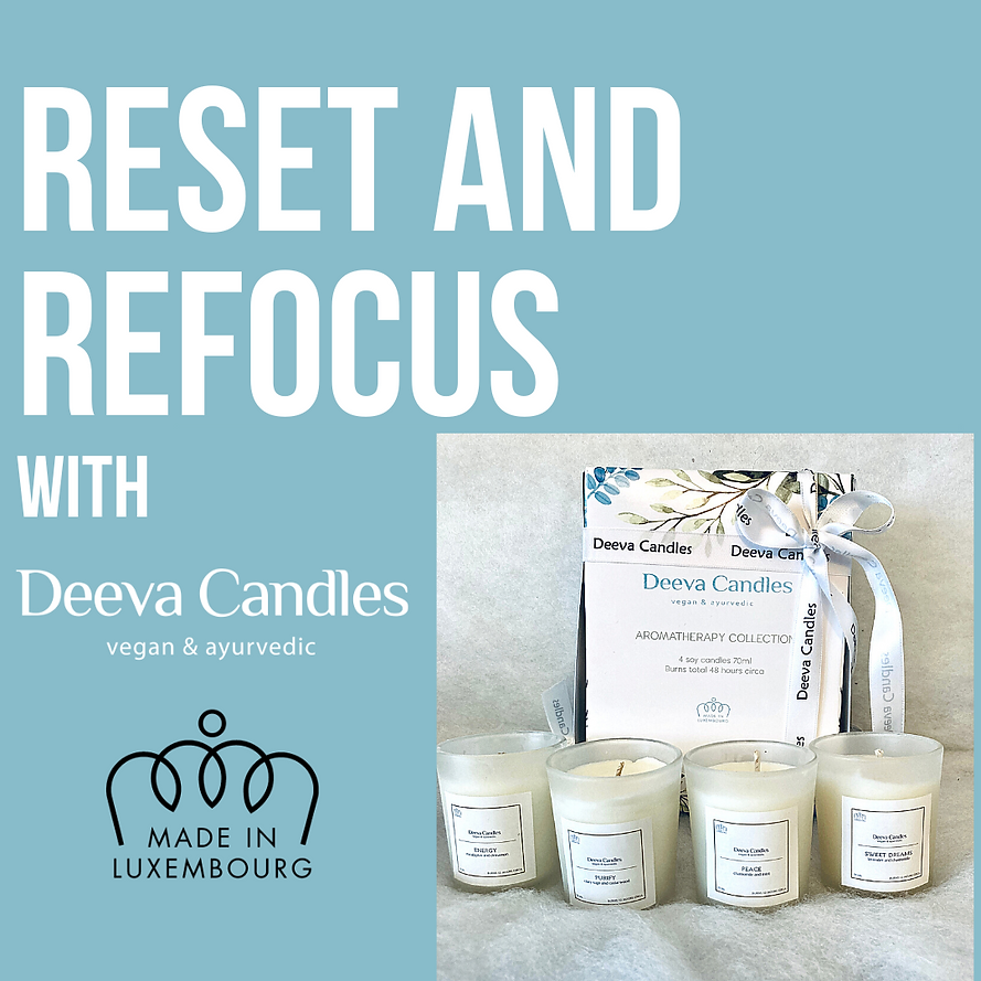 reset and refocus with Deeva Candles