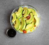 Lettuce Avocado, Cucumbers, Cherry Tomatoes, Corn