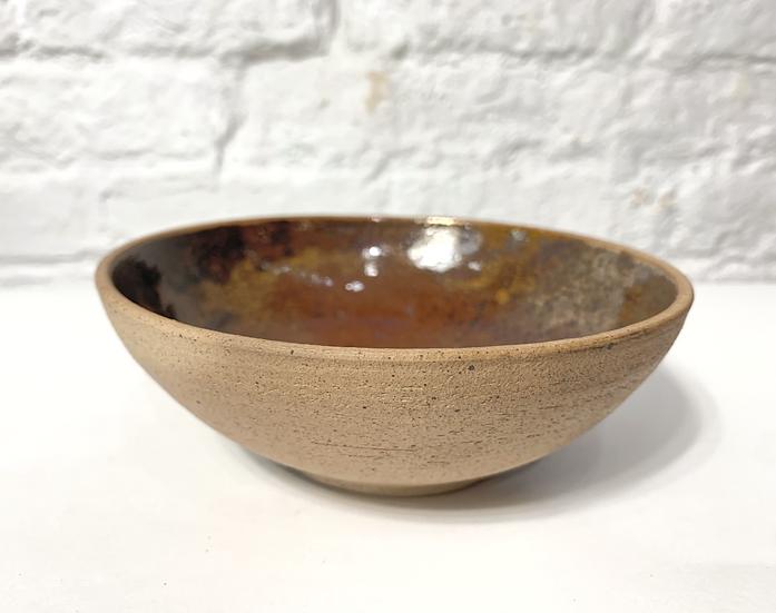 Raku Fired Stoneware Bowl
