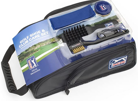 PGA Tour Shoe Bag, With Club Cleaning Set
