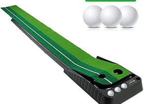 Asgens Golf Putting Green, Indoor/Outdoor Golf Auto Return Putting Mat