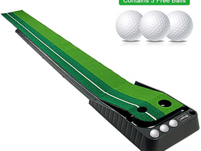 Asgens Golf Putting Green, Indoor/Outdoor Golf Auto Return Putting Mat