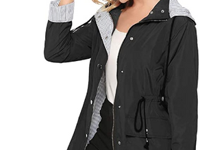 bedee Women's Waterproof, Windproof Rain Jacket