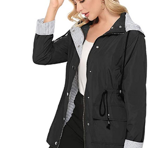bedee Women's Waterproof, Windproof Rain Jacket