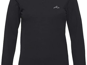 Killer Whale Ladies Long Sleeve Polo Shirts Cotton Golf Tops for Women