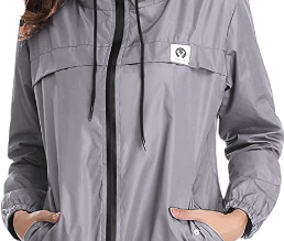 Abollria Women's Rain Jacket Waterproof with Hood
