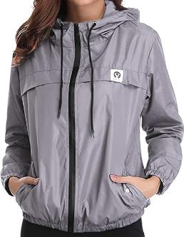 Abollria Women's Rain Jacket Waterproof with Hood