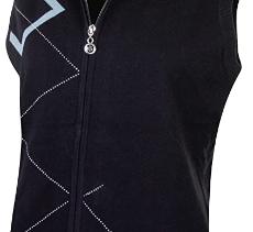 Island Green Women's Sleeveless Zip Through Lined Sleeveless Sweater