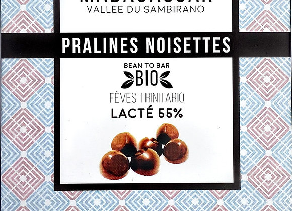 Pralines Noisettes Madagascar Lacté 55% - Millésime Chocolat
