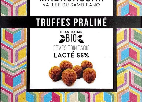 Truffes Praliné Madagascar Lacté 55% - Millésime Chocolat