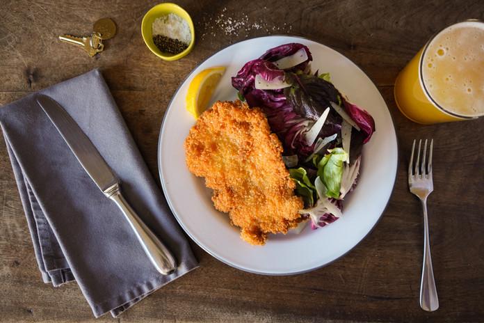 schnitzel, photo Dan Rajter